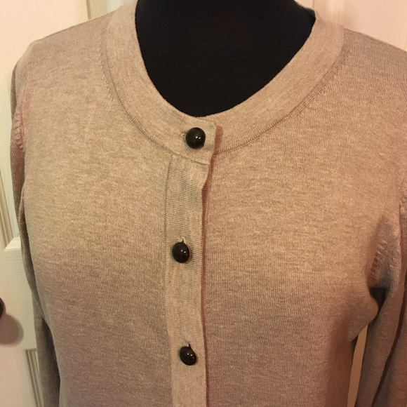 90/'s Banana Republic Cardigan Sweater Vintage 100/% Silk Lightweight Button Up Ribbed Knit